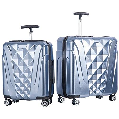 Merax Newest 2 Piece Luggage Set TSA Approved Luxurious Suitcase