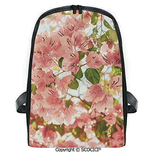 SCOCICI Casual Stylish Backpack Bougainvillea Flowers Branches in Sunny Summer Blossoms Nature Park View 2019 Deals! One Size (Best Gas Powered Leaf Blower 2019)