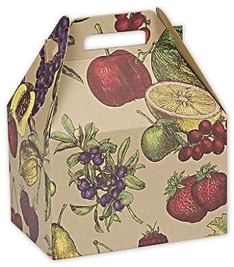 Alimentos y Gourmet cajas – Frutero grande cajas de Gable, 9 x 6 x 6