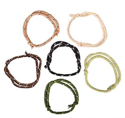 Friendship 36 Bracelets (DollarItemDirect CAMOUFLAGE FRIENDSHIP ROPE BRACELETS, Case of 36)