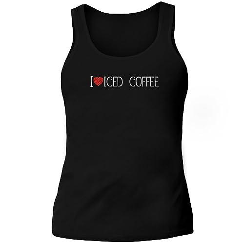 Idakoos I love Iced Coffee cool style - Bevande - Canotta Donna