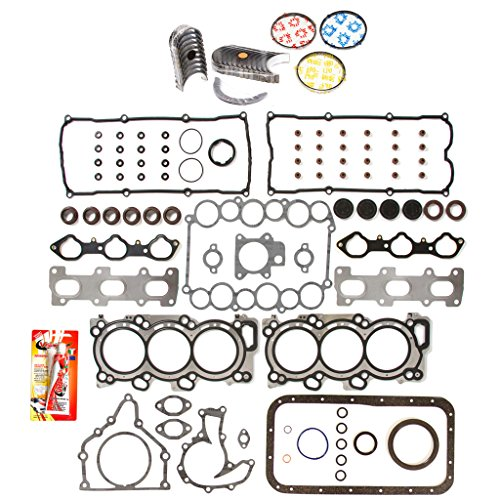 Domestic Gaskets Engine Rering Kit FSBRR7010EVE\0\0\0 Fits 98-04 Isuzu Honda Acura 6VD1 6VE1 Full Gasket Set, Standard Size Main Rod Bearings, Standard Size Piston Rings