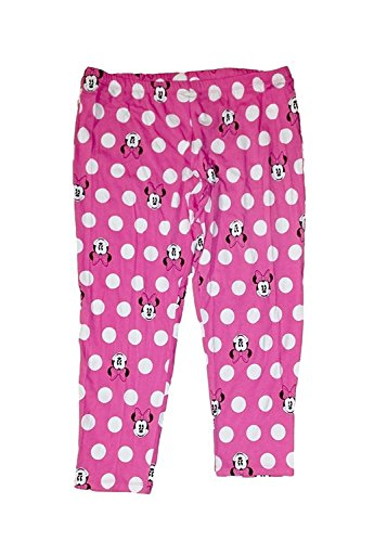 Disney Classic Minnie Mouse Big Face Womens Pant Leggings - 24 Inch Pink -