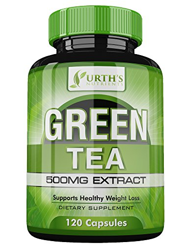 Green Tea Extract Supplement with EGCG – 120 Day Supply – 100% MONEY BACK GUARANTEE – NON GMO – Healthy Weight Loss Support – Made in USA