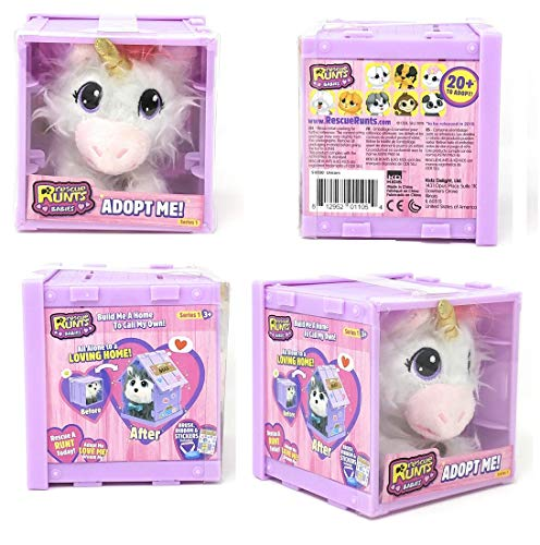 NEW! Rescue Runts Babies Series 1 - Unicorn - Adoptable Pet That You Rescue, Groom & Love!