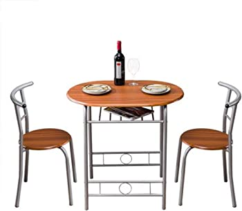 Lovinland 3 Piece Dining Table with 2 Midback Chair Seat