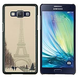 Stuss Case / Funda Carcasa protectora - Invierno Torre Eifel Pastel Ciudad Romántica - Samsung Galaxy A5 ( A5000 ) 2014 Version