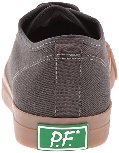 Pf Folders Mannen Wandelaar Lo Mode Sneaker Raven / Gum Chinokeperstof