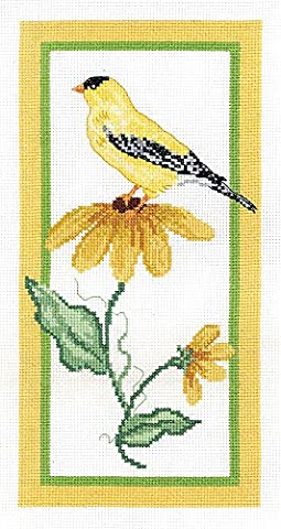 Janlynn Floral Goldfinch Cross Stitch Supplies - Floral Counted Cross Stitch