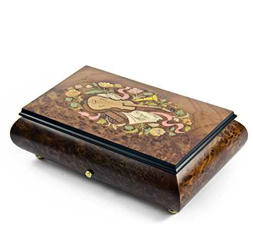 Traditional 72 Note Sankyo Musical Instrument Theme Inlay Grand Music Box – A Thousand Years (3 Parts)