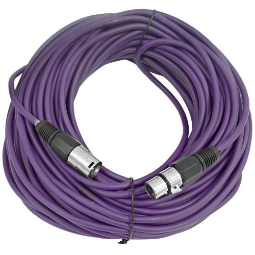 SEISMIC AUDIO - SAXLX-100 - 6 Pack of 100' Purple XLR Male to XLR Female Microphone Cables - Balanced - 100 Foot Patch Cords by Seismic Audio (Image #2)