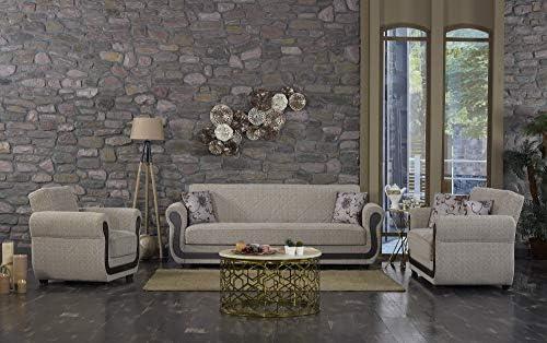 Editors' Choice: BEYAN Newark Collection Upholstered Convertible Storage Love Seat