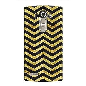 Cover It Up - Gold Black Tri Stripes LG G4 Hard case