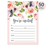 Fill-In Party Invitations with Envelopes ( Pack of 50 ) Bridal Shower, ...