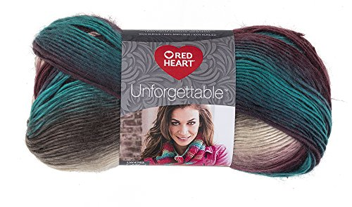 Red Heart E793-3952 Tealberry Unforgettable Yarn,