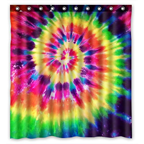 e Rainbow Spirals Fractal Bathroom Shower Curtains 100% Polyestey 66 X 72 inch ()