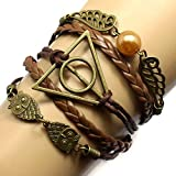 Most Beloved Mens / Womens Geometric OWL Pearl Leather Multilayer Braided Bracelets