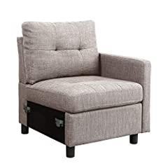 Enjoy a comfortable seat according to your style and preference. With this Bliss Brands Assembly, Linen Fabric Interlocking Single Sofa Unit, choose the number of units of each chair style you want for your ideal sofa set.        FEATU...