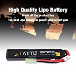 TATTU 11.1V LiPo Airsoft Stick Battery,3S 1200mAh 25C Battery Pack for Airsoft Gun with Mini Tamiya Connector