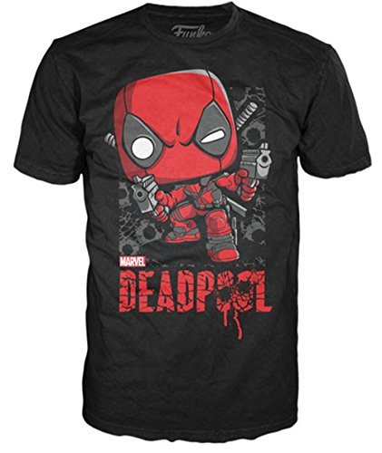 Funko Men's Marvel - Deadpool Shots Shattered, Black, X-L...