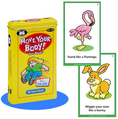 Super Duper Publications Move Your Body Fun Deck Cards Educational Learning Resource for Children by Super Duper Publications