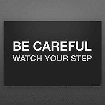 Amazon.com: Cartel de seguridad grande para ver tus pasos ...