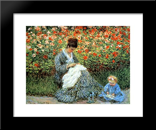 Galleria Monets Garden (Camille Monet and a Child in the Artist's Garden in Argenteuil 20x24 Framed Art Print by Monet, Claude)