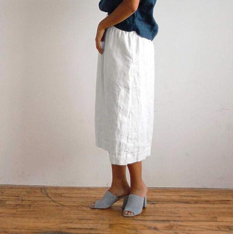 TUDUZ Mujer Faldas Largas Verano Enaguas Color Sólido Falda ...