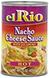 nacho hot cheese sauce - El Rio Hot Nacho Cheese Sauce with Jalapeno, 15-Ounce Units (Pack of 12)