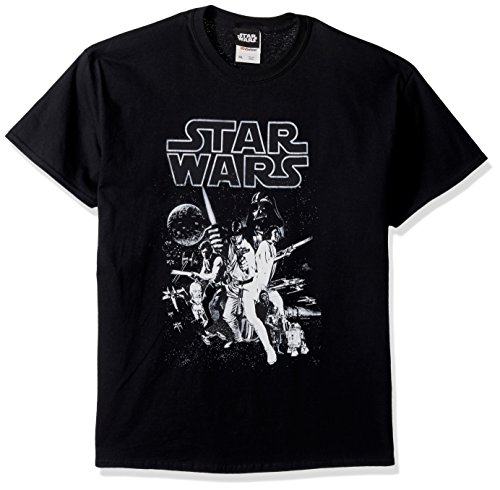 Star Wars Men's Official 'Poster' Graphic Tee, Black, Large