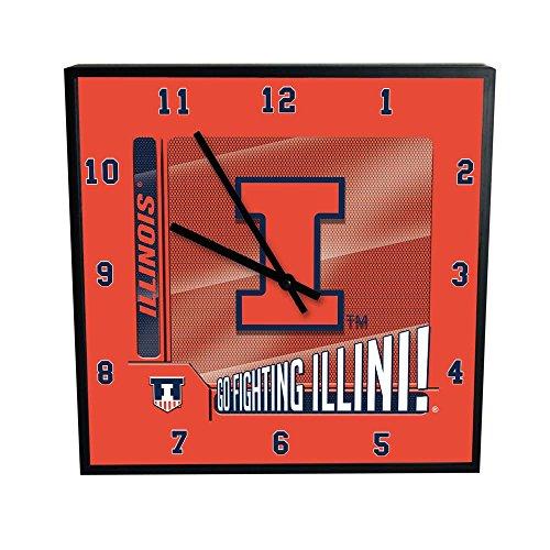 Illinois Chrome Clock - 8