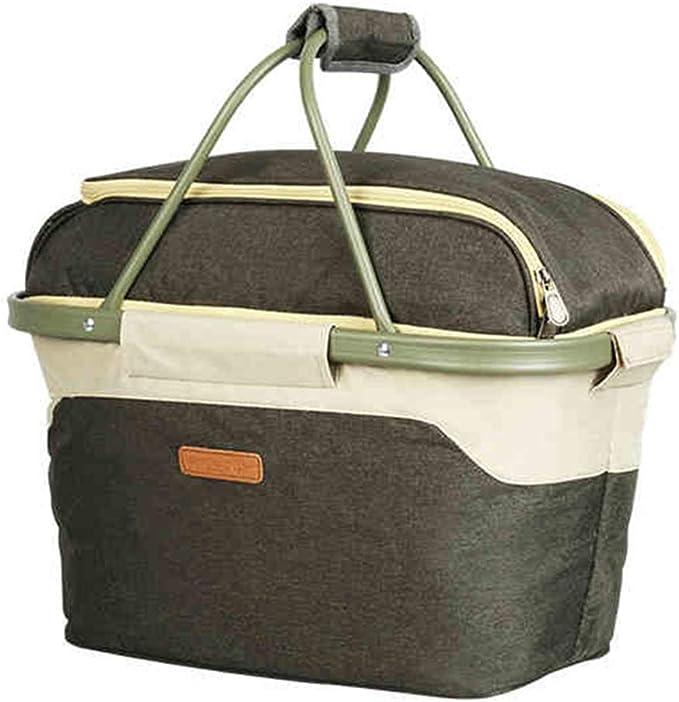 La bolsa de picnic tela Oxford gran capacidad de aislamiento de almacenamiento en frío fresco del bolso del almuerzo Food Pack hielo fresco de picnic al aire libre bolsa de picnic carrito