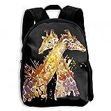Giraffe Africa Zebra Student School Backpacks Canvas Book Bag Casual Daypack Travel For Children