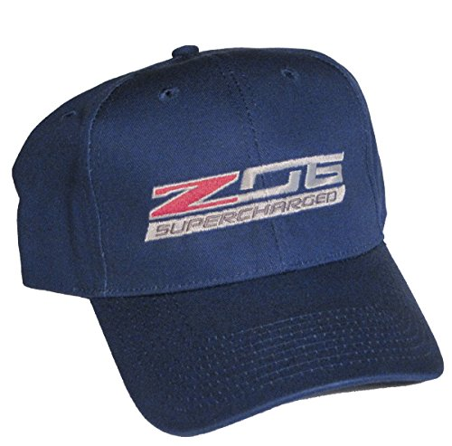 Gregs Automotive Compatible Chevrolet Z06 C7 Corvette Supercharged Blue Logo Hat Cap Made in USA - Bundle with Driving Style Decal