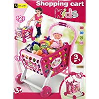 Zest 4 Toyz Shopping Cart Toy for Girls/Boys 3 in 1 Grocery Cart , 48 pc Grocery Set