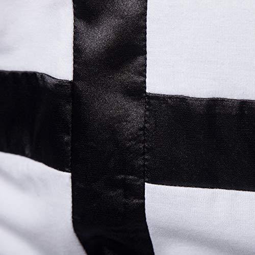 Uomo Shirt T Top Maglia Felpa Maglietta Con Uomo Felpe Weant Camicia Hoodie Uomo Felpe Lino Nero uomo Cappuccio Magliette pullover Bianco Maniche Bianco Top Lunghe Uomo Uomo Maglietta Tumbler Zqxwaa7gP