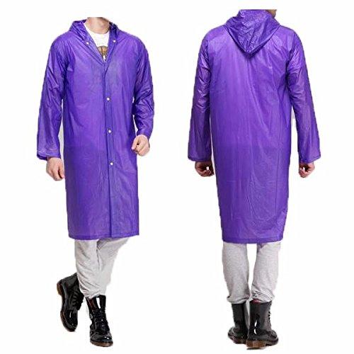 Vivona Thicken Rain Coat Outdooors Camping Poncho Men Women Durable Waterproof Rain Gear - (Color: Blue)