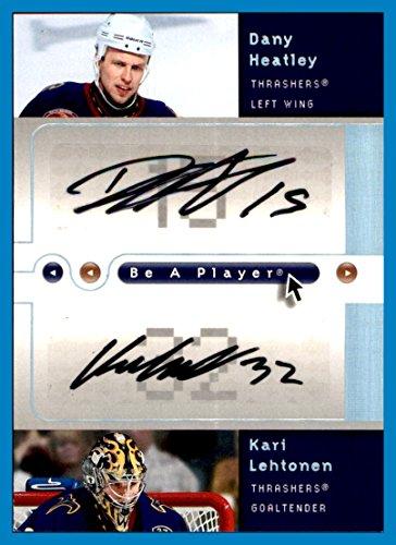 2005-06 Be A Player Dual Signatures #DK Dany Heatley Kari Lehtonen AUTOGRAPHS ATLANTA THRASHERS