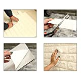 Masione Peel and Stick 3D Wallpaper Self-adhesive Wall Panels for TV Walls / Sofa Background Wall Decor (White-10 pieces 58.13 sq.ft)