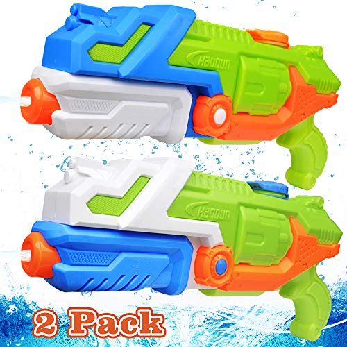 EZIGO Water Guns for Adults and Kids 1050CC High Capacity Super Soaker Water Gun, Shooting Up to 38 ft Water Squirt Guns Summer Outdoor Swimming Pool Beach Water Fighting Toys (2 Pack)