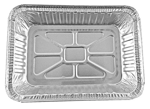 Durable Packaging 2 1/4 lb. Oblong Holiday X-Mas Foil Pan w/Clear Dome Lid - Red Aluminum (pack of 100) by Durable Packaging (Image #5)