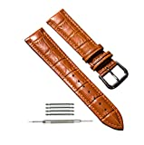 omega 22mm band - Light Brown 18mm Leather Watch Bands 12mm 14mm 16mm 18mm 20mm 22mm 24mm Replacement Watch Strap (Light Brown, 18mm)