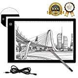 BTGGG A4 LED Light Box Portable USB Power 3-Level Dimmable Tracing Light Box LED Drawing Pad for Kids Artists Weeding Vinyl Diamond Paint Sketching Animation Stencil [Flicker-Free] [Eye Protection]