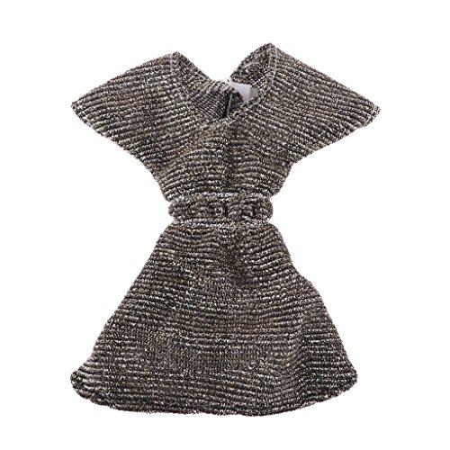 Panno Skirt Maniche Tonaca Sharplace Casuale Abbigliamenti Corte Vestiti Doll Miniature Abito Festa per xZExWn7U