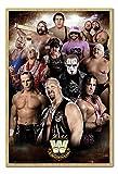 WWE Legends Poster Beech Framed & Satin Matt Laminated - 96.5 x 66 cms (Approx 38 x 26 inches)