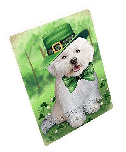 Bichon Frise Dog Portrait - St. Patricks Day Irish Portrait Bichon Frise Dog Blanket BLNKT58422 (60x80 Fleece)