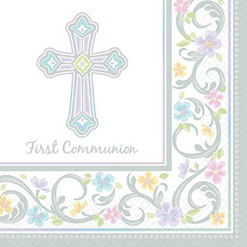 Blessed Day Communion Beverage Napkin (Communion Party Ideas)