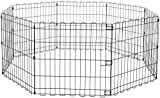 AmazonBasics Foldable Metal Pet Exercise and Playpen, 24