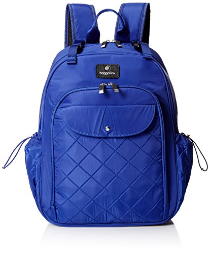 BG by Baggallini Women's Run Diaper Bag Backpack with Baby Stroller Straps, Cobalt