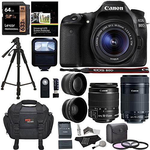 Canon EOS 80D Digital SLR Kit with EF-S 18-55mm f/3.5-5.6 Im